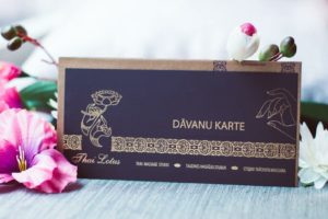 Thai Lotus Gidt Card
